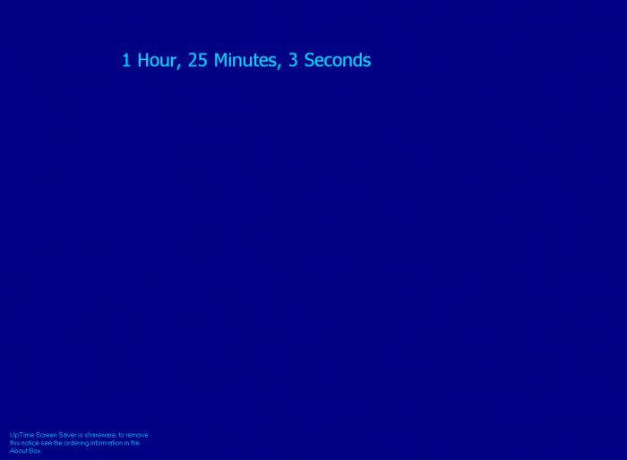 UpTime Screen Saver