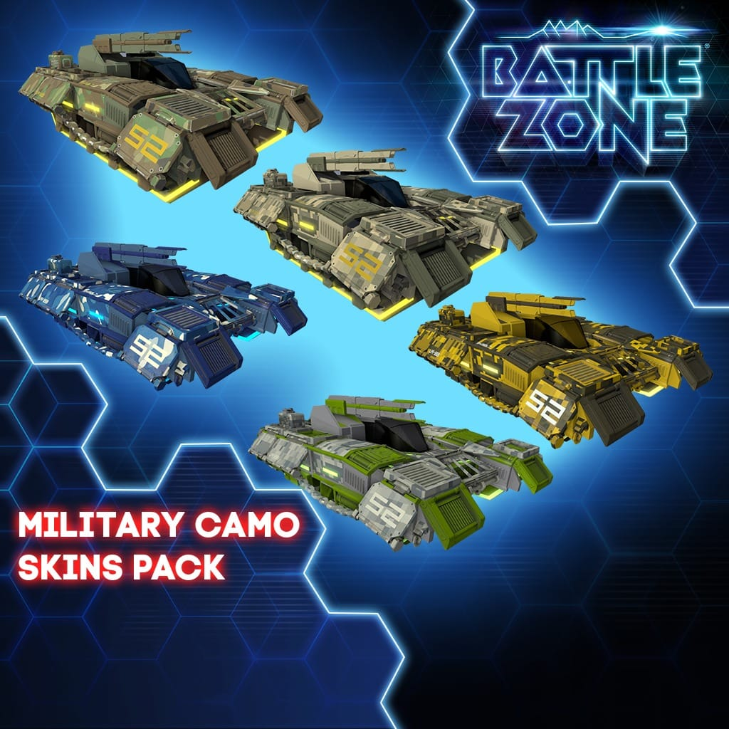Military Camo Tank Skins Pack PS VR PS4