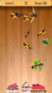 Aplastar hormigas y moscas
