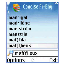 Browse to Concise Oxford-Hachette French Dictionary and MSDict Viewer