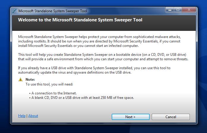 Microsoft Standalone System Sweeper 64-bit