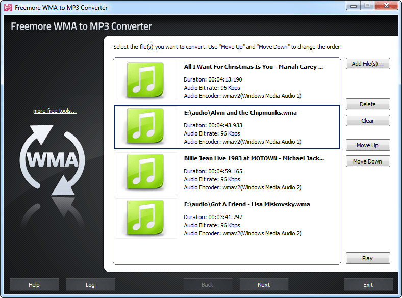 Freemore WMA to MP3 Converter