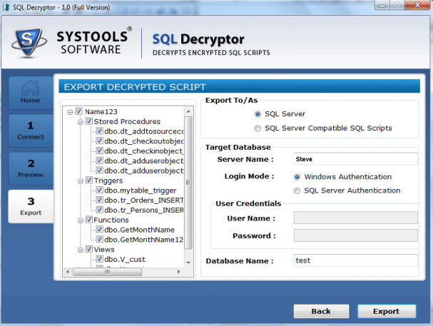 Free SQL Decryptor Tool