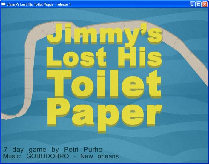 Jimmy's lost his toilet paper