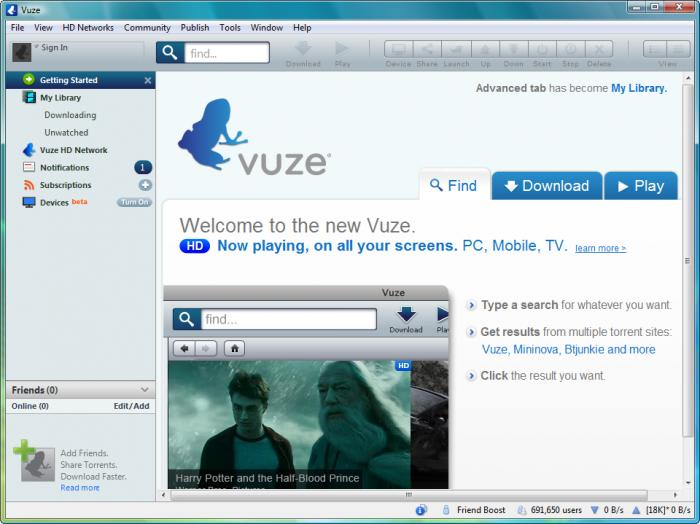 how to use vuze on android