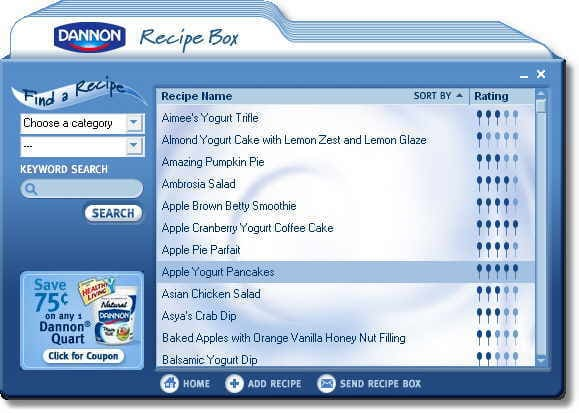Dannon Recipe Box