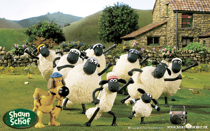 Shaun das Schaf - Die Herde Wallpaper
