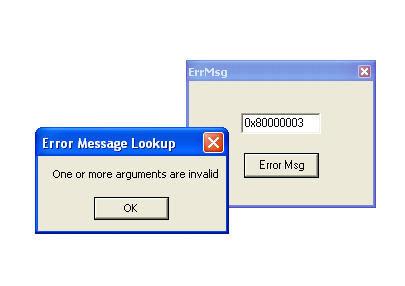 Windows Error Code Lookup Tool (ErrMsg)