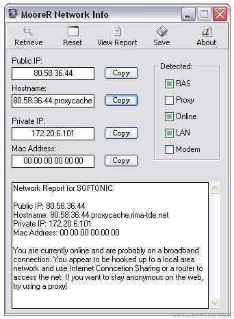 MooreR Network Info