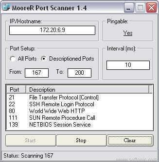 MooreR Port Scanner