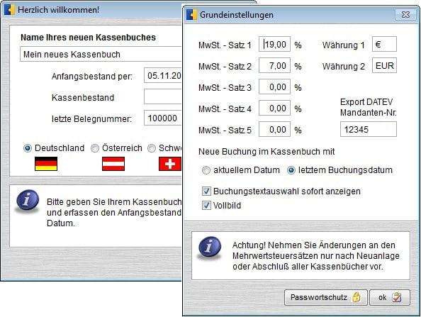 Kassenbuch und Konto