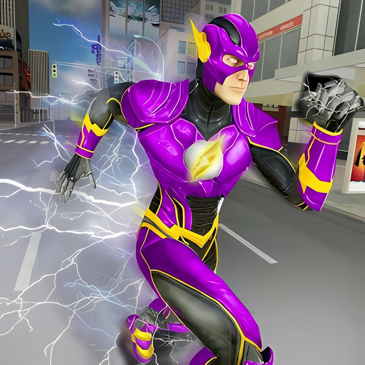 Super Speed Flash Hero Fighter City Rescue Game