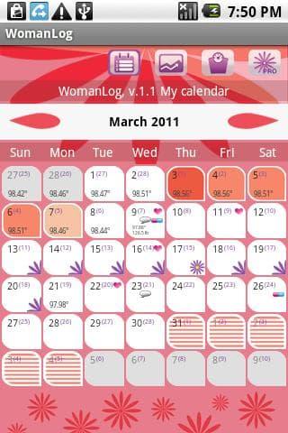 Calendário WomanLog