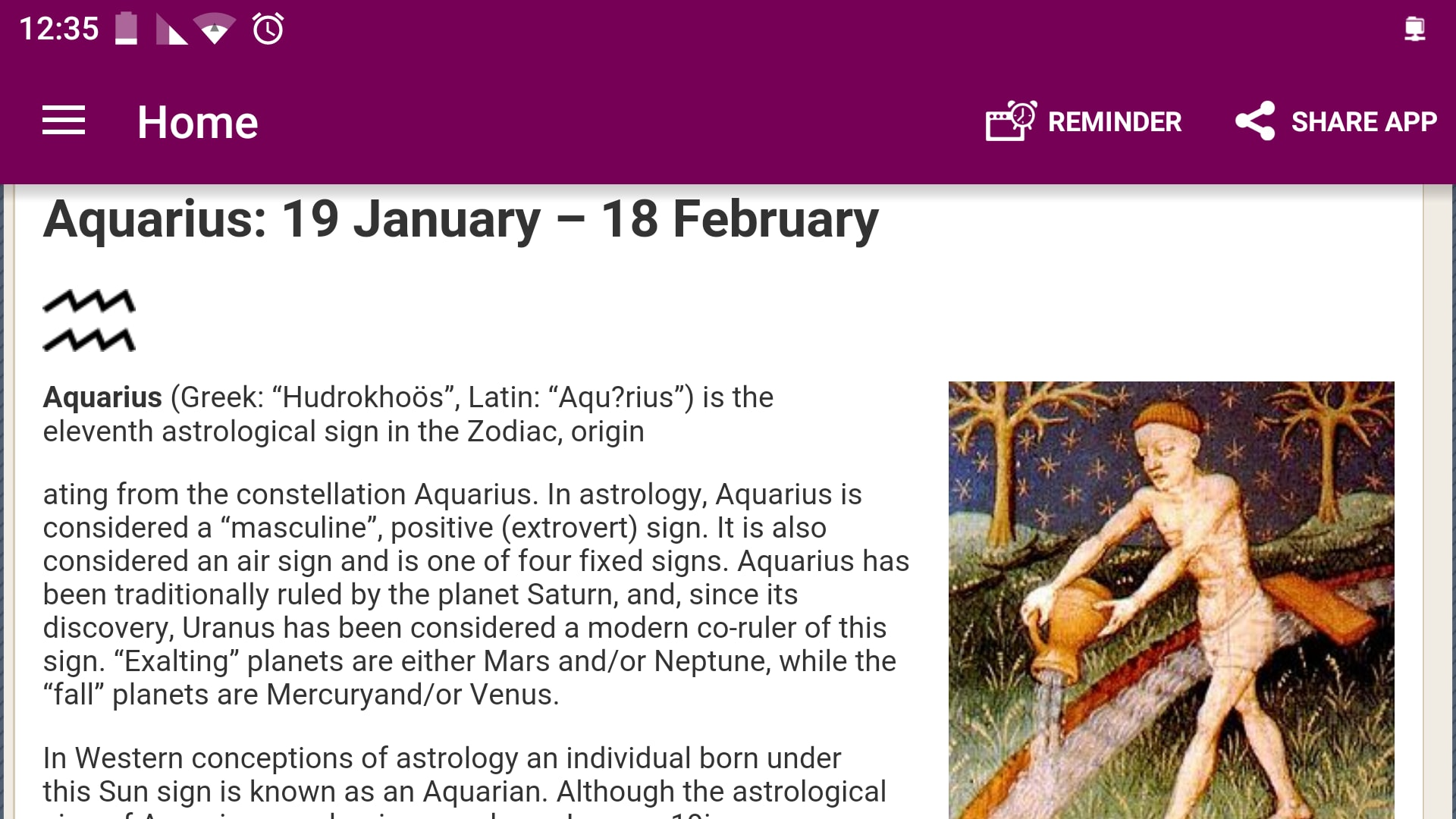 Aquarius Astrology & Horoscope