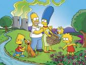 Wallpaper Familie Simpson