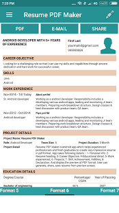 resume pdf maker cv builder is a free program for android that belongs to the category business productivity and has been developed by dailymobapps