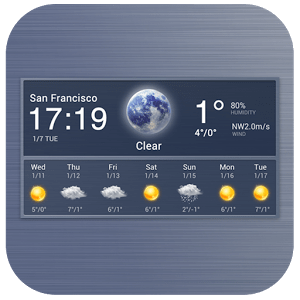 7 Day Weather & Clock Widget
