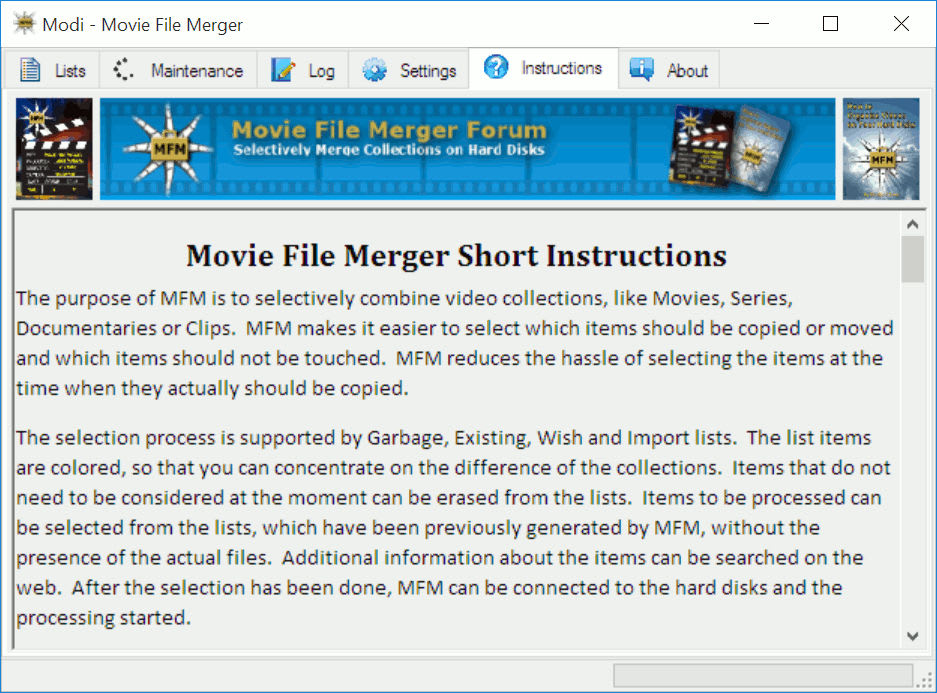 Movie File Merger