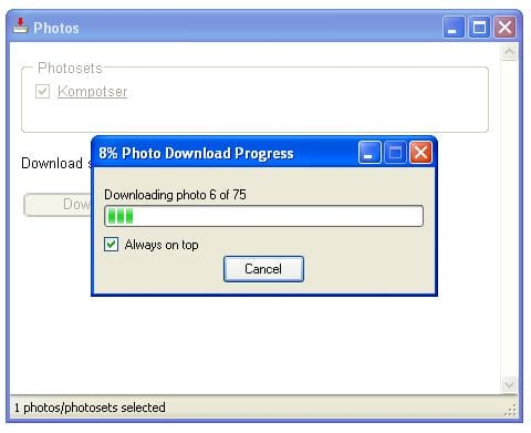 how to download photos from flickr when disabled