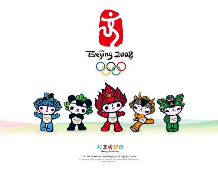 Fond d'écran Pékin 2008, les mascottes
