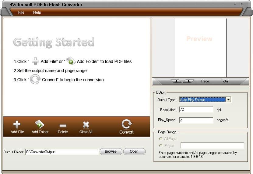 4Videosoft PDF フラッシュ 変換