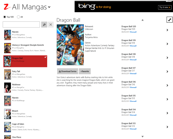 Manga Z para Windows 10