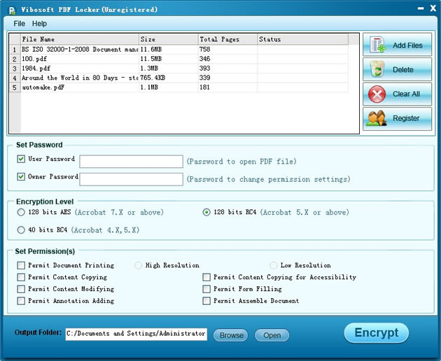 Vibosoft PDF Locker for Windows