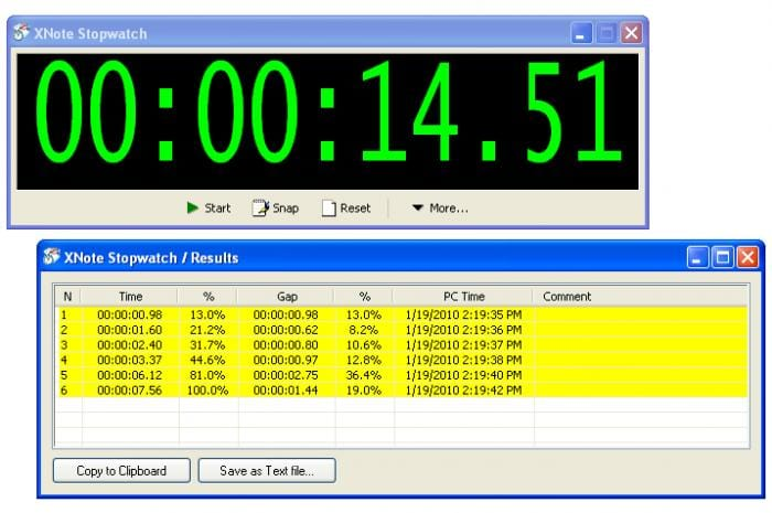 XNote Stopwatch - Download