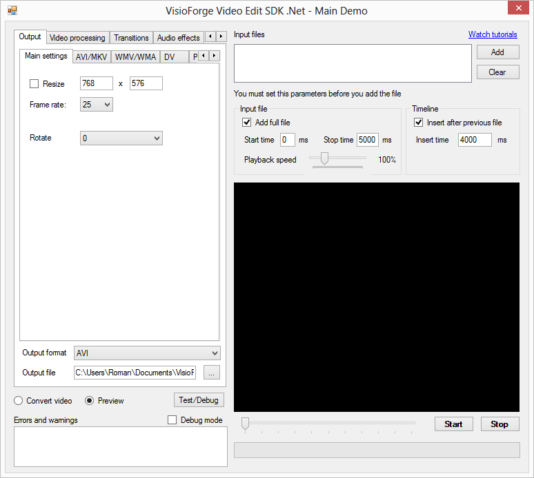 Video Edit SDK .Net
