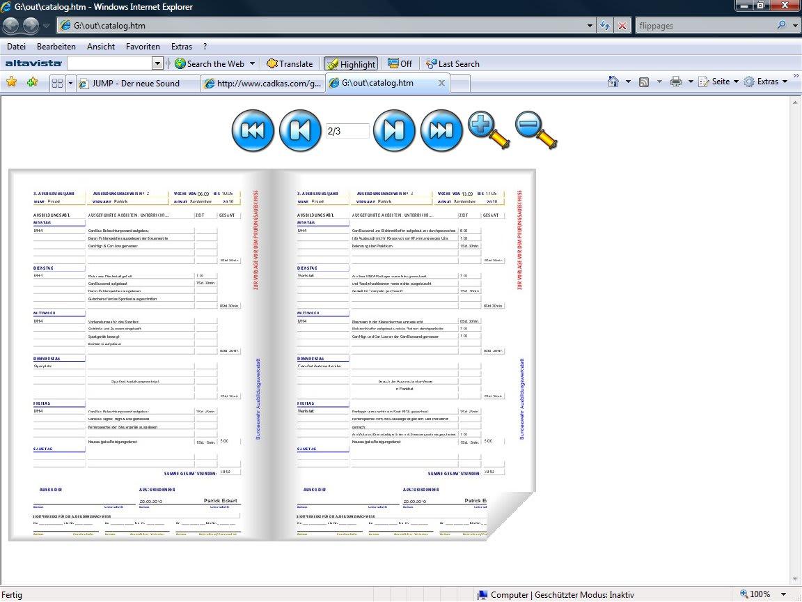 PDF blätterbare Kataloge