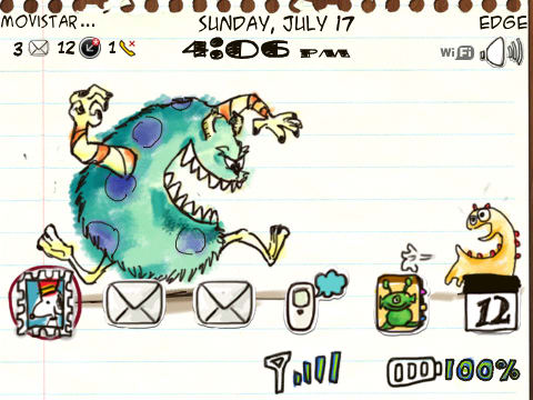 Tema Doodle Monsters