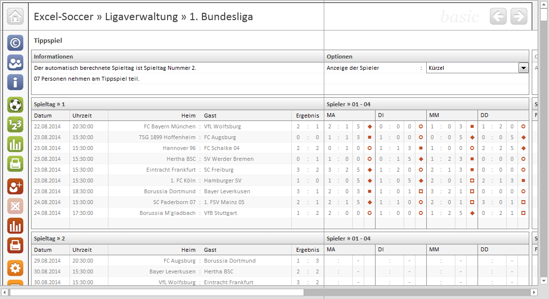 Heutiger Bundesliga Spieltag