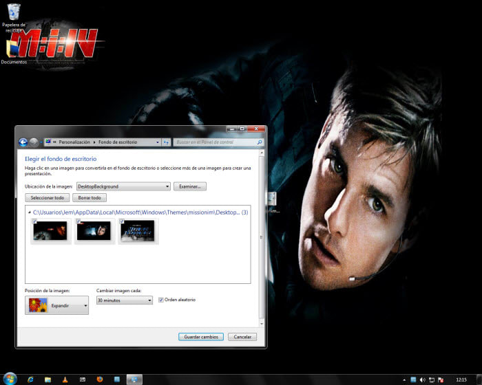 Misión Imposible: Protocolo Fantasma Tema Windows 7