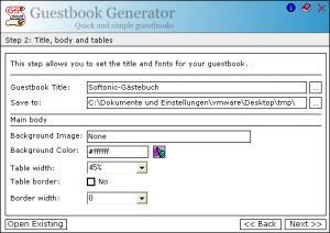 Guestbook Generator
