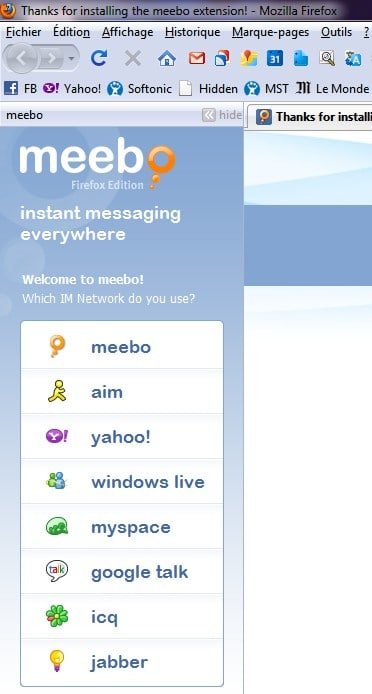 Meebo Firefox Extension