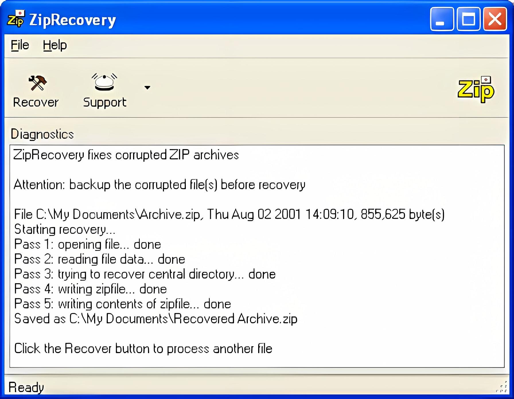 ZipRecovery