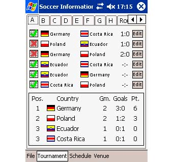 Soccer Information Manager