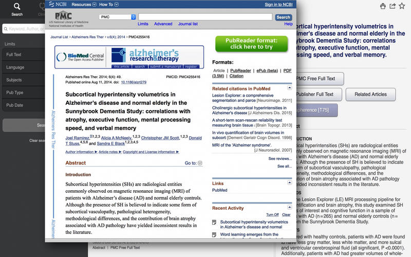 Unbound MEDLINE - PubMed, Journals, and Grapherence