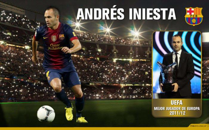 Fondo de Escritorio Andrés Iniesta MVP UEFA 2012