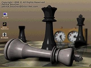 Chess desktop theme