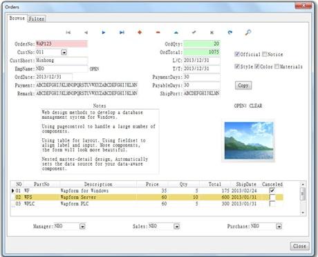Wapform for windows Standard