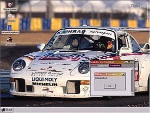 Porsche 911 GT2 dektop theme