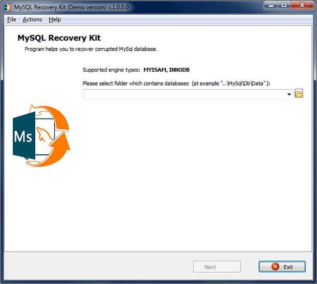 MySQL Recovery Kit