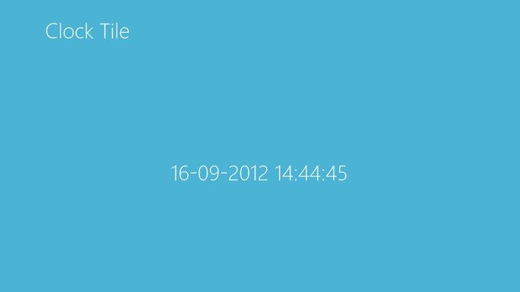 Clock Tile for Windows 10