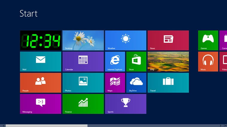 Digital Live Tile Clock for Windows 10