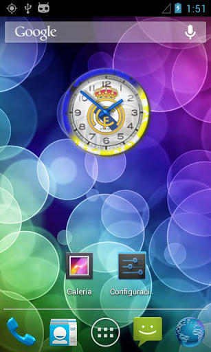 Real Madrid FC Reloj Widget