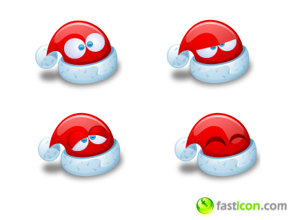 Santa Claus Hat Icons
