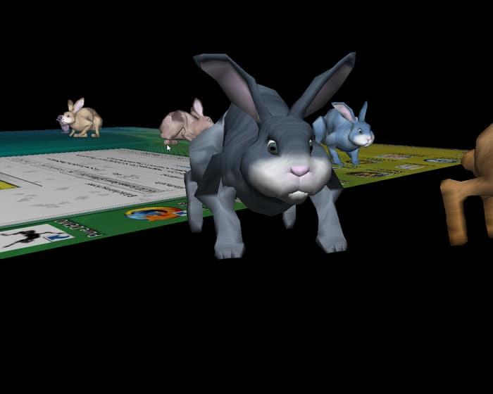 3D Desktop Bunny Rabbits