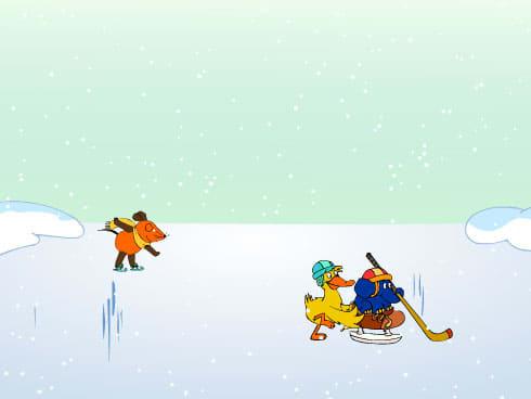 Bildschirmschoner Eislaufen mit der Maus