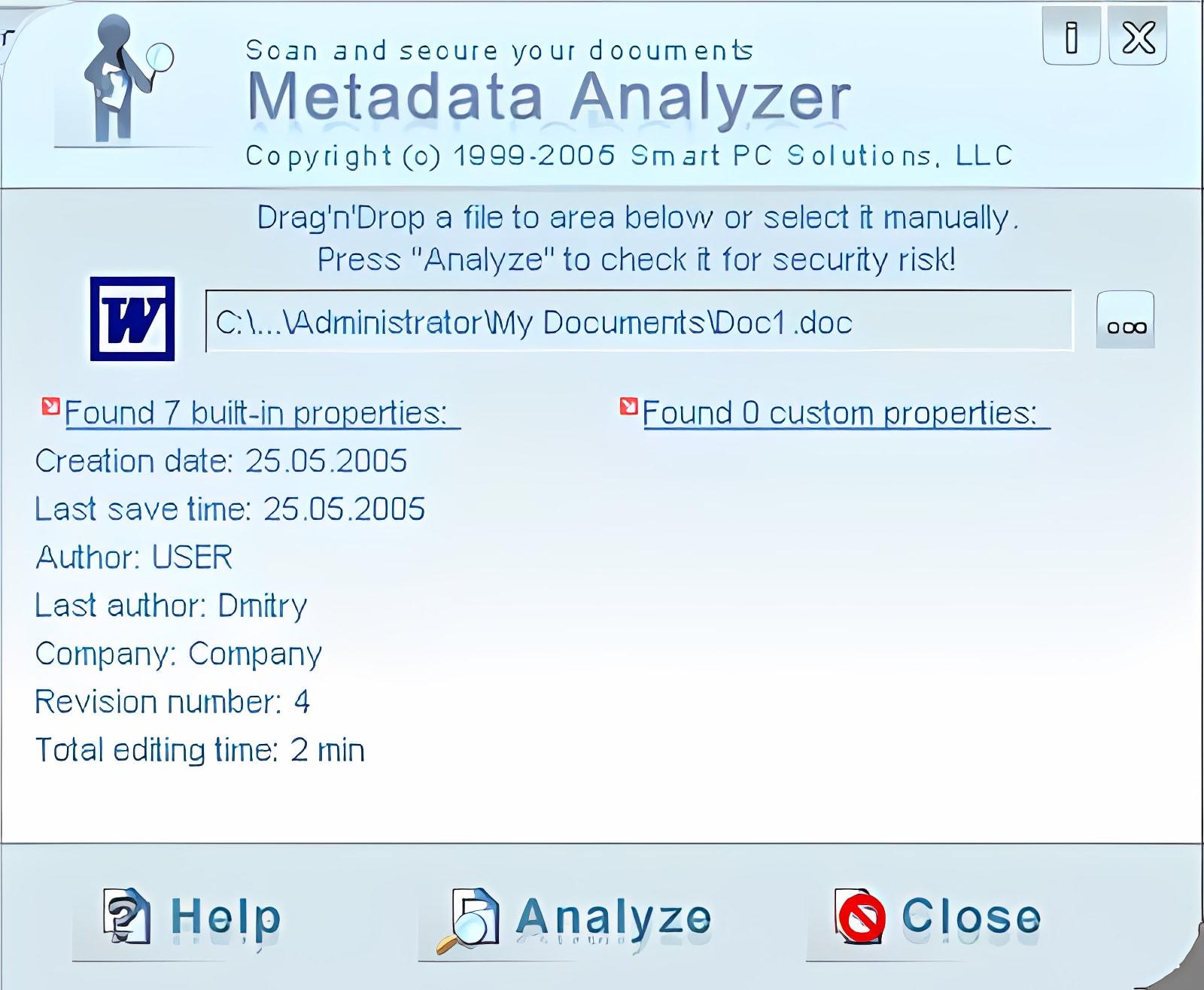 Metadata Analyzer